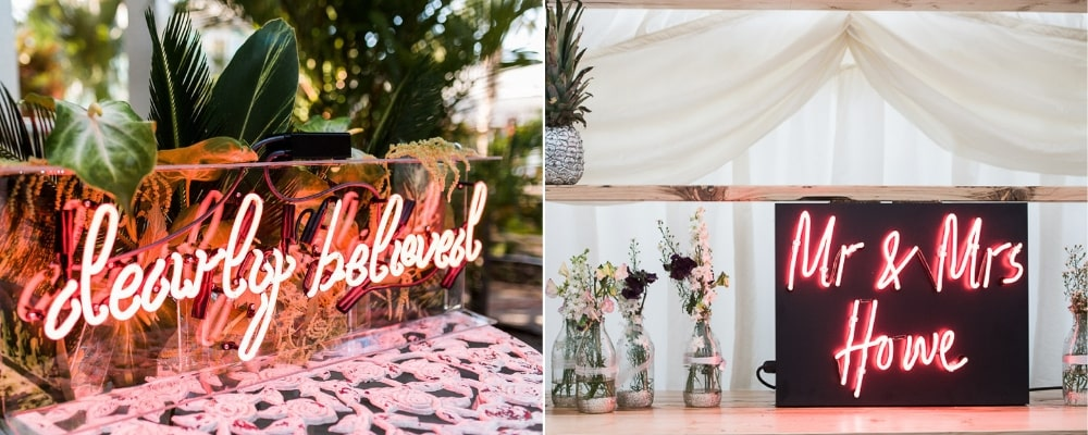 The Latest Wedding Trends For 2019, neon lights - Aleit Weddings
